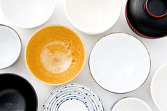 Many dishes Royalty Free Stock Photography