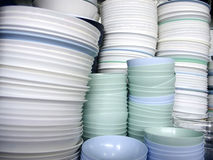 Many dishes Stock Photos