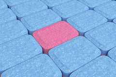 Many Dishwasher Tablets in Rows. 3d Rendering Royalty Free Stock Images