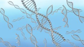 Many Dna chains in water floating royalty free illustration