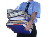 Many document folders Stock Image