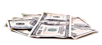 Many dollar banknotes isolated Stock Photo
