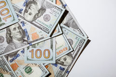 Many dollar banknotes Stock Photography