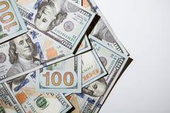 Many dollar banknotes Stock Photography