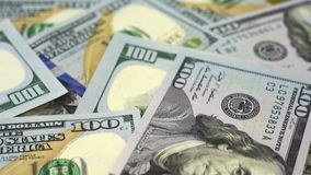 Many Dollar Banknotes. stock footage