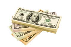 Many dollar bills Stock Photos