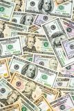 Many dollar bills Royalty Free Stock Photography