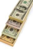 Many dollar bills Royalty Free Stock Photos