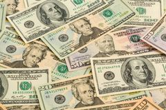 Many dollar bills Royalty Free Stock Image