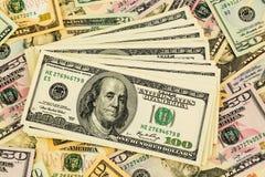 Many dollar bills Stock Photos