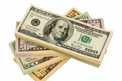 Many dollar bills Royalty Free Stock Photo