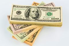 Many dollar bills Stock Image