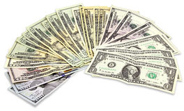 Many Dollars banknotes Royalty Free Stock Images