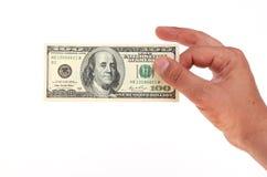 Many dollars on white background Royalty Free Stock Image