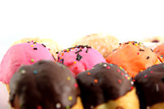 Many donuts flavor combinations. Royalty Free Stock Photo