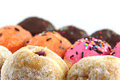 Many donuts flavor combinations. Stock Image