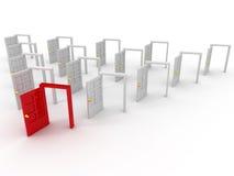 Many doors Royalty Free Stock Image