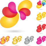 Many drops, colored, multimedia and services logo. Many drops, multimedia and services logo Stock Photo