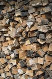 Many dry chopped firewood logs. Stock Photography