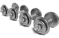 Many dumbbells Royalty Free Stock Image