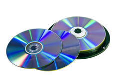 Many DVD discs Stock Photo