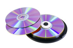 Many DVD discs Stock Images