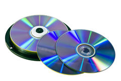 Many DVD's Royalty Free Stock Photography