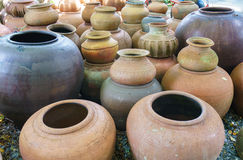 Many earthen pots Stock Image