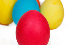 Many Easter eggs. On a white background Stock Photography