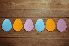 Many Easter paper eggs Stock Image