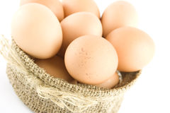 Many eggs are in the bag Royalty Free Stock Photography