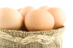 Many eggs are in the bag Royalty Free Stock Image