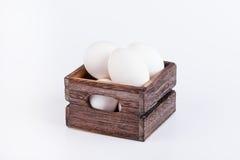 Many eggs in box Royalty Free Stock Photo