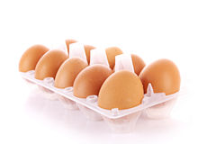 Many eggs isolated Royalty Free Stock Photo