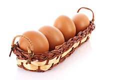 Many eggs isolated Royalty Free Stock Photos
