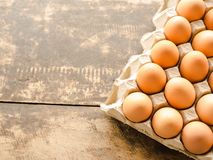 There are a lot of eggs. royalty free stock photo