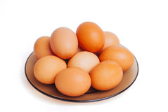 Many eggs on a plate Royalty Free Stock Photography