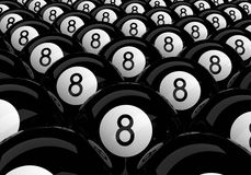 Many eight balls Royalty Free Stock Images