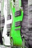 Many electric guitars Royalty Free Stock Photo