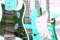 Many electric guitars Royalty Free Stock Photos