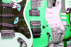 Many electric guitars Royalty Free Stock Image