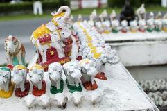 Many elephant statues. In thailand Royalty Free Stock Image
