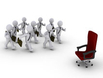 Many employees for one position Stock Image