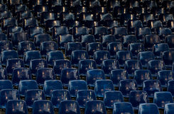 Many empty blue sit Royalty Free Stock Image