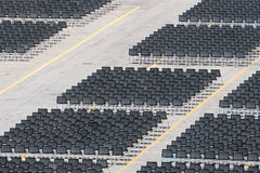 Many empty chairs without audience Royalty Free Stock Images