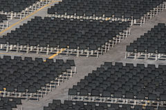 Many empty chairs without audience Stock Photography