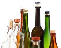 Many empty closed wine bottles Stock Photos