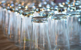 Many empty glasses Stock Photo