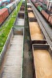 Many empty wagons Stock Photo