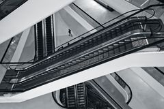 Escalators in a department store in Bangkok. royalty free stock photography